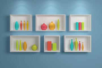 Modern shelves.