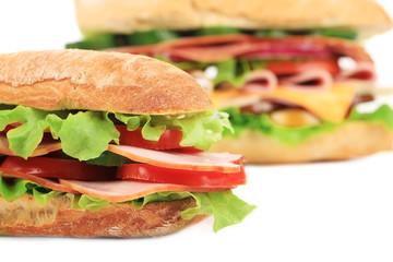 French baguette fresh sandwich.