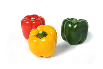 Bell Pepper isolated on a white background with shadow