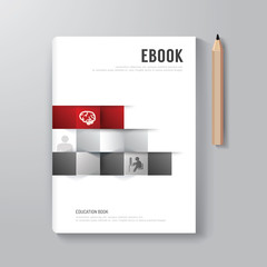 Cover Book Digital Design Minimal Style Template.