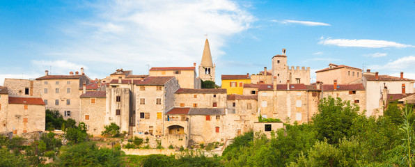 Panoramic view of Bale village, Croatia.