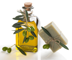 Natural soap with olive oil