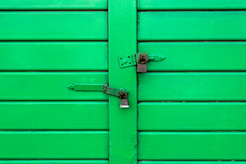 Green Door with Locks (1)