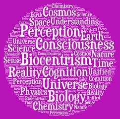 Biocentrism word cloud