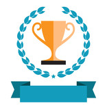Fototapety trophy award cup icon