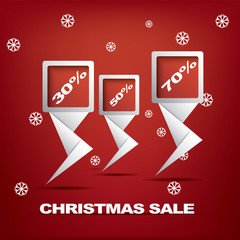 Christmas sales vector illustration