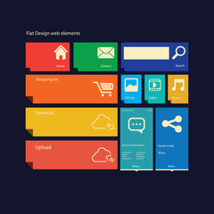 Flat design icons graphic user interface