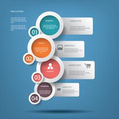 Round white infographic elements