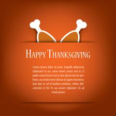 Thanksgiving card vector illustration design