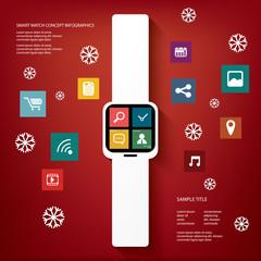 Smart watch concept vector illustration