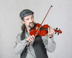 Handsome Irish Fiddler Performing