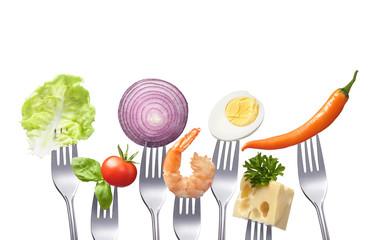 Gesundes ausgewogenes Essen