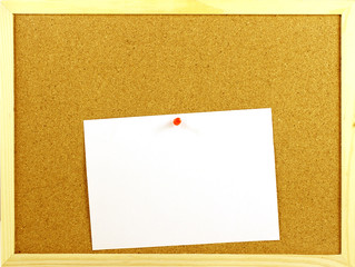 Blank message in a corkboard