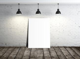 white blank placard