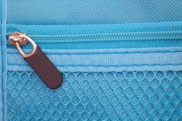 Close - up make up blue pocket bag