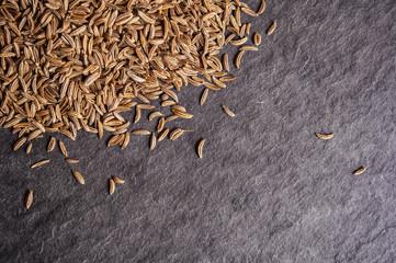 cumin seeds on stone table