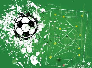 grungy soccer football, illustration vector format