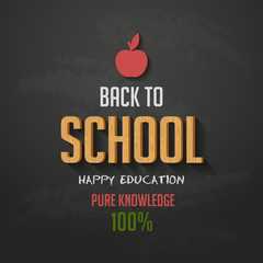 Back to school sale typography poster vector design template