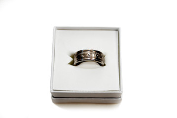 Silver Wedding Band in a Gift Box