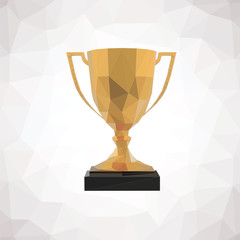 Trophy low poly icon