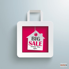 White Paper Shopping Bag House