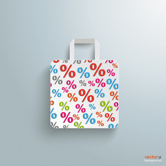 White Paper Shopping Bag Percents