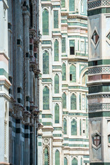 Florence 27 jul 2014 - view of cathedral SANTA MARIA DEL FIORE i