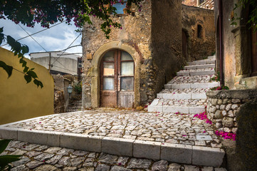 Forsa d'Agro streets. Sicily.