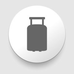 travel luggage suitcase web black icon