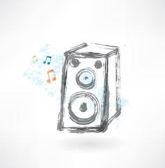 music column grunge icon