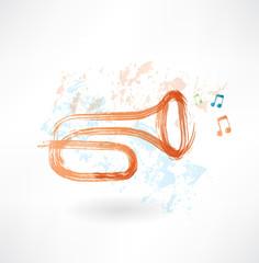 trumpet grunge icon