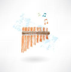 flute grunge icon