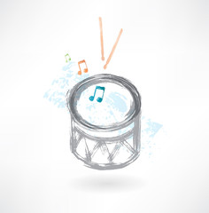 grey drum grunge icon