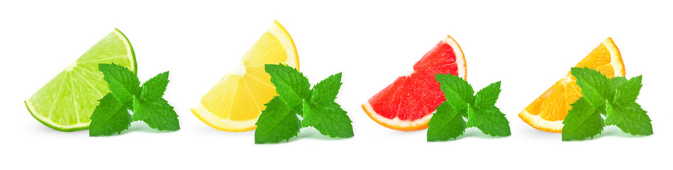 citrus fruits with mint