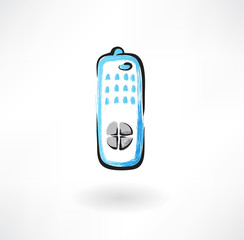 TV remote grunge icon