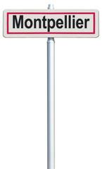 Montpellier, panneau entrée de ville