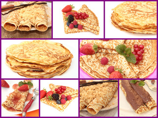 collage crêpes