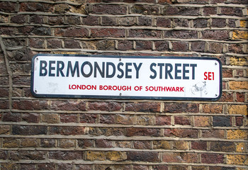 Bermondsey Street Sign