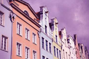 Gdansk architecture - cross processed color tone