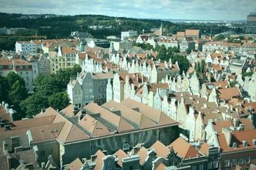 Gdansk, Poland - cross processed color tone