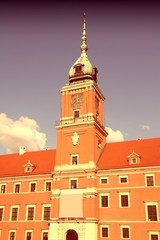 Warsaw castle - cross processed color tone