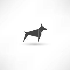Dog black symbol