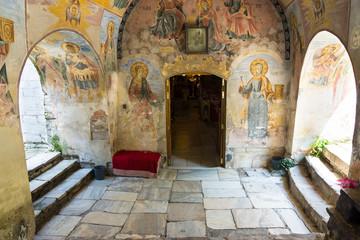 Biblical scenes of life in the monastery paintings