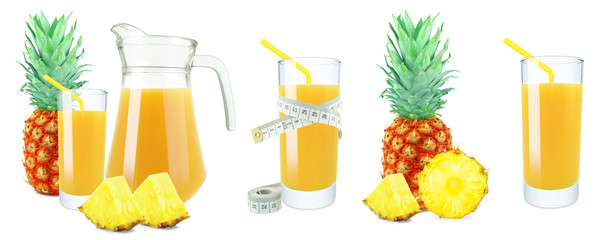 pineapple juice, meter and fruit