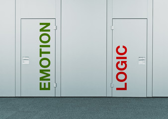 Emotion or logic, concept of choice