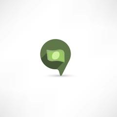 money in the bubble speech icon