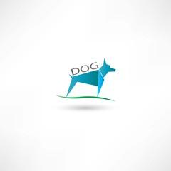 Dog blue symbol