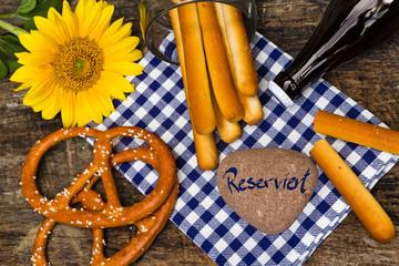 Tischdekoration, Oktoberfest, Reserviert