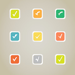 Validation buttons vector set