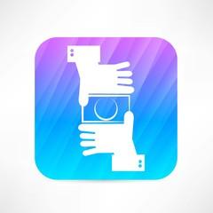 camera hands icon